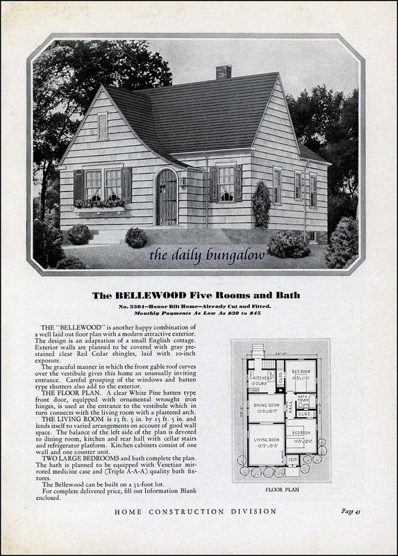 Homes Of Today Sears Kit Houses 1932 Vintage House Plans