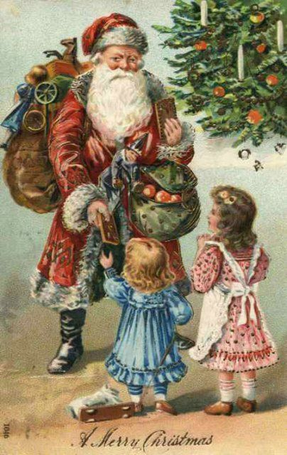 Christmas Santa Claus Vintage Cards for Xmas and Holidays, Vintage