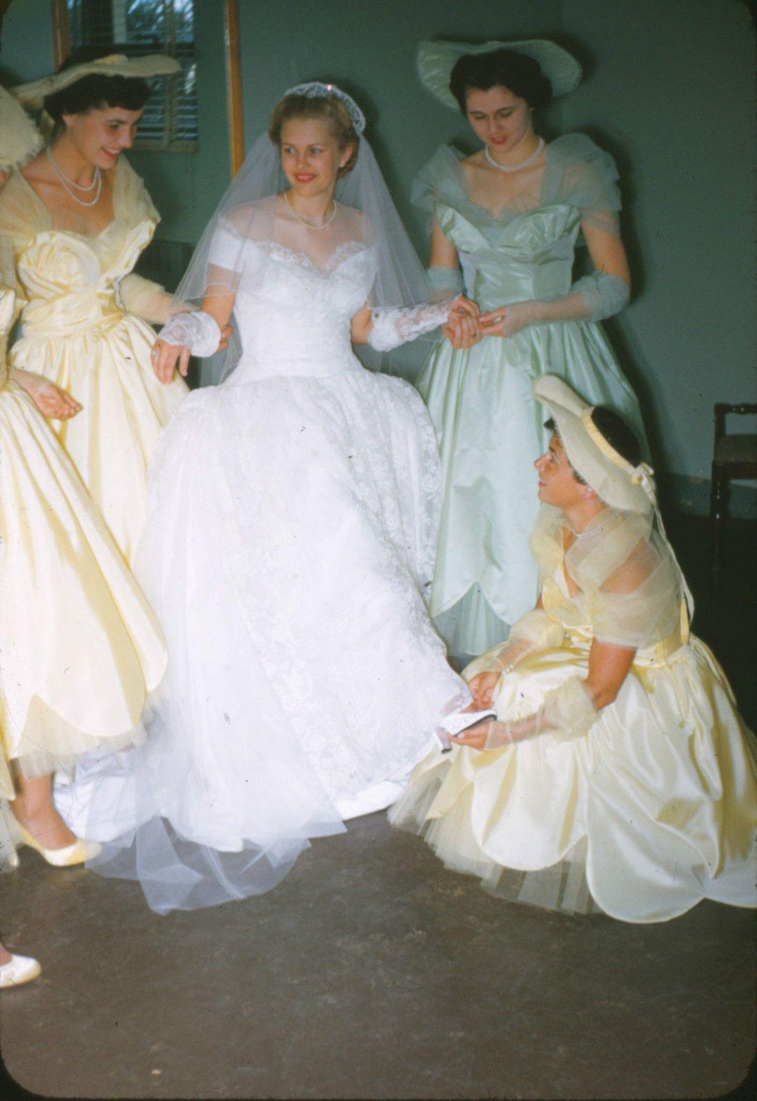 memories651950s Vintage bridesmaid dresses, Wedding