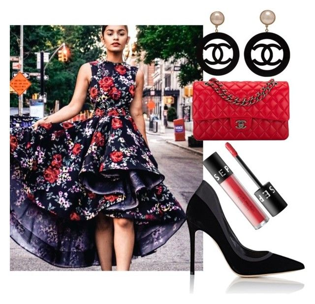 """""""Guest Model @styleyuu in L'Impasse Boutique dress with Polyvore Accessories"""" by tsdimage on Polyvore featuring Gianvito Rossi, Chanel and Sephora Collection"""