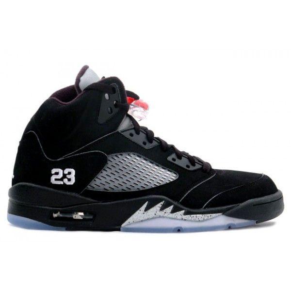 Air Jordan 5(V) Limited Edition Men Casual Shoes Black Metallic Silver