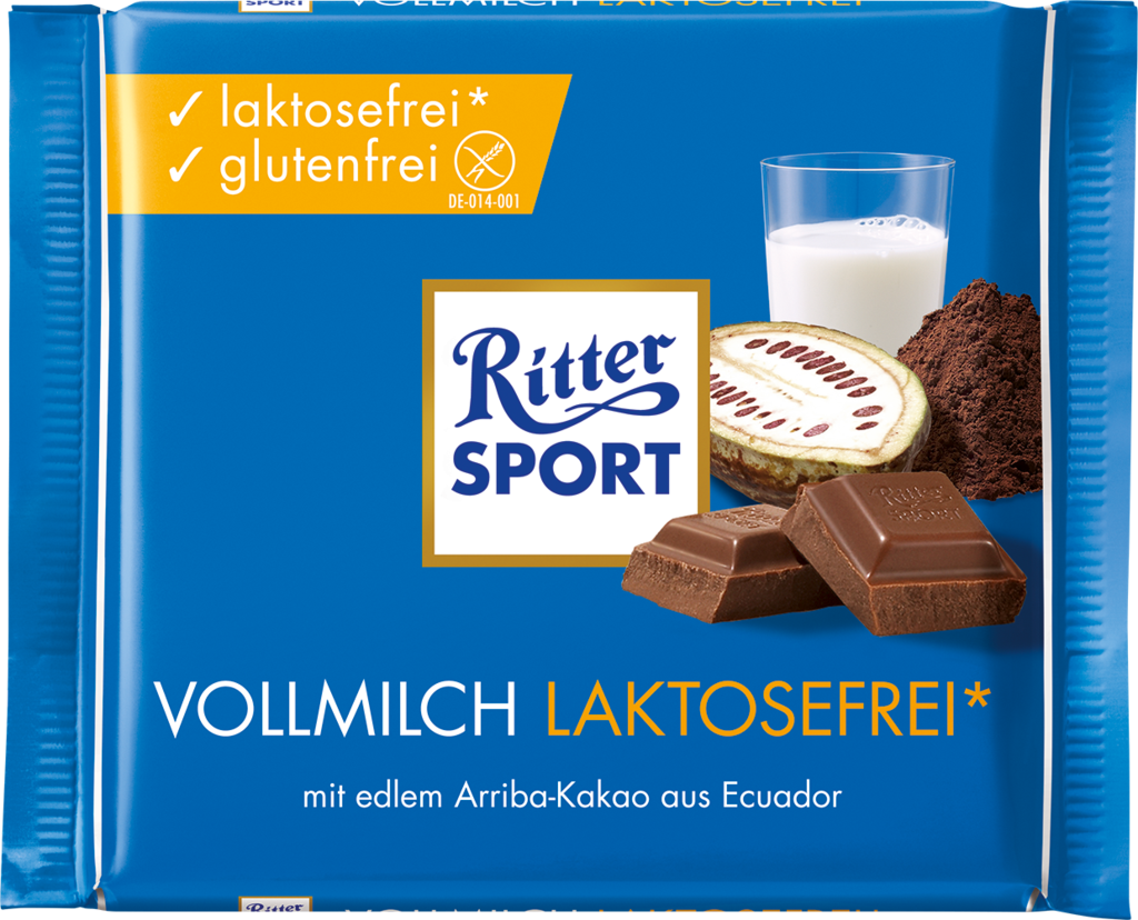 Ritter Sport Milk Chocolate Lactose Free in 2020
