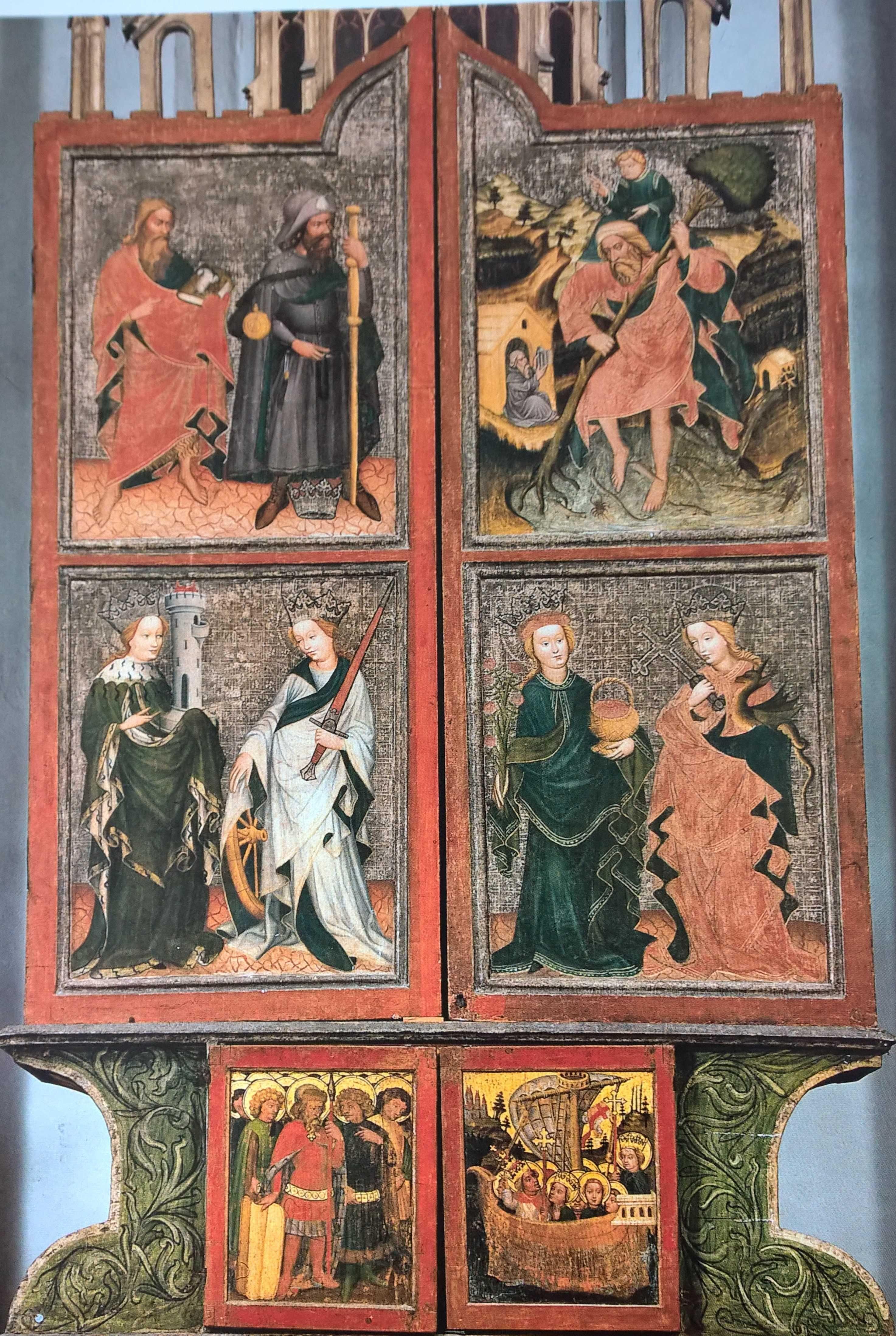 Hochaltar St. Sigmund, Pustertal Südtirol, Um 1430, Außenseite