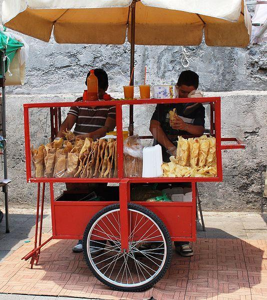 Street Food Puerto Vallarta - Drinks, Chip, Hot Sauce...Snacks