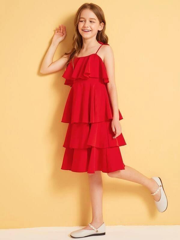 Girl/'s Bleed Blue  Pinafore Dress