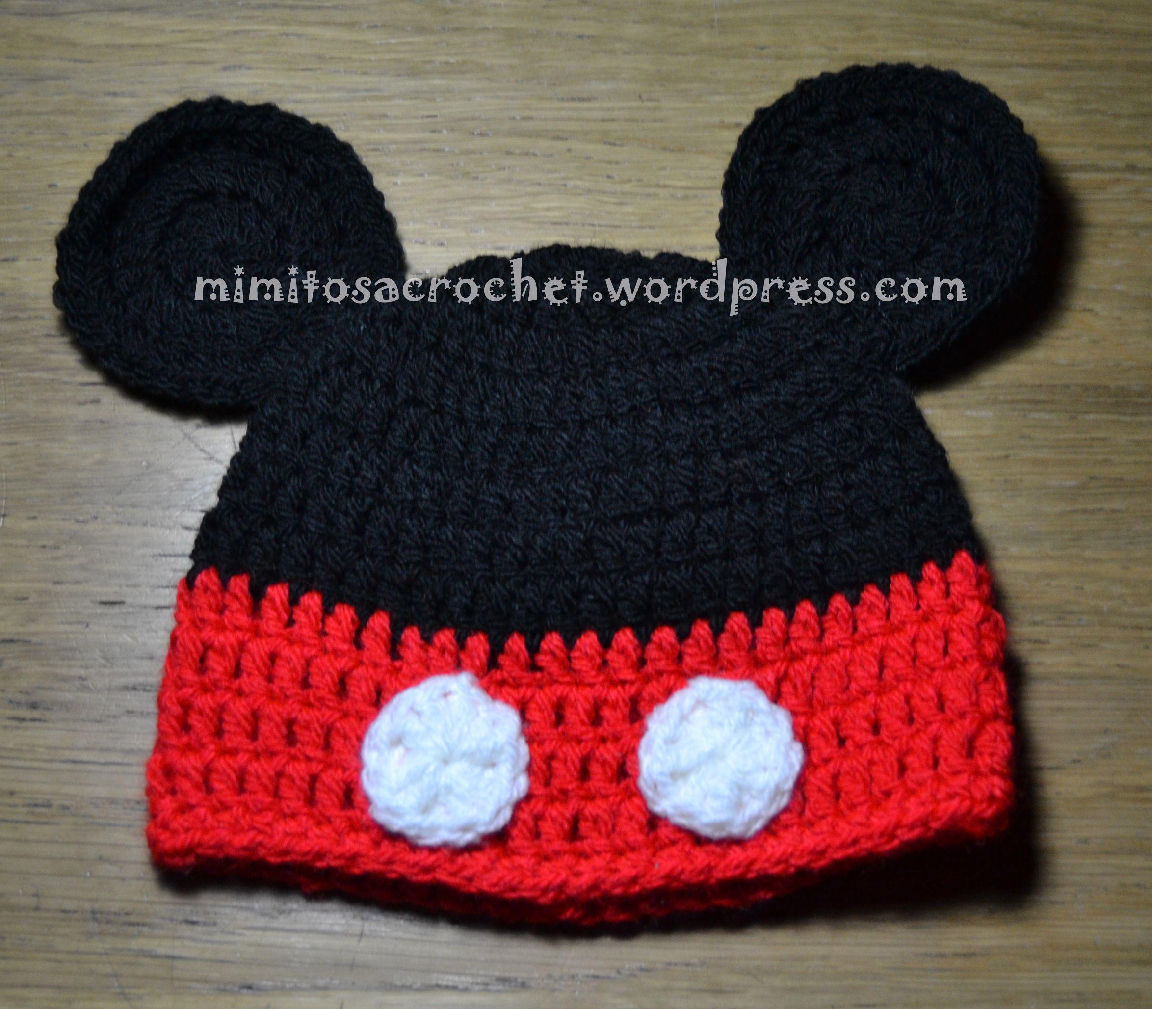 Gorrito Mickey | Gorros!!!! | Pinterest