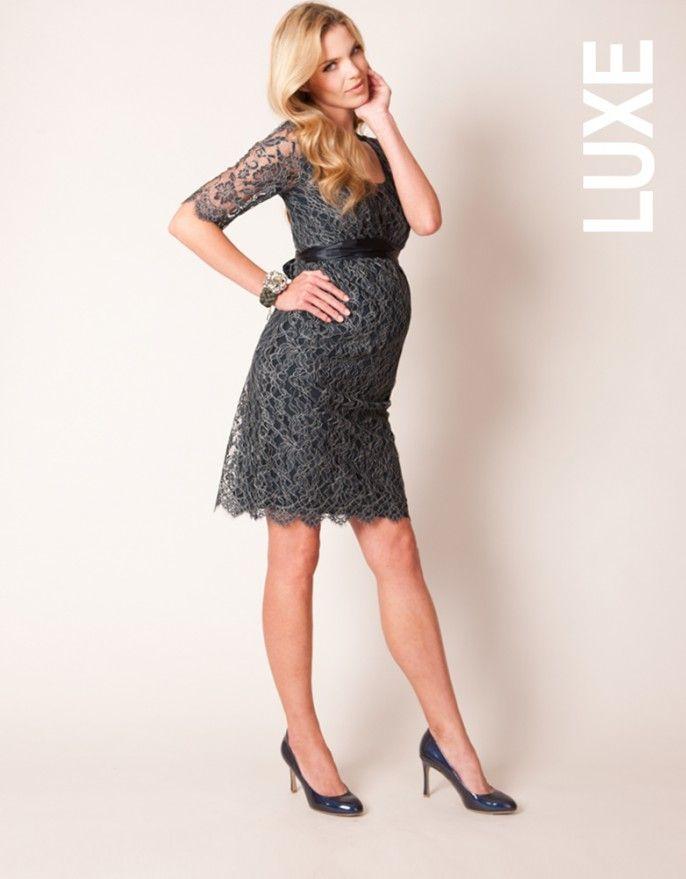 3f2903398 Vestido para embarazadas de fiesta con encaje – Azul marino