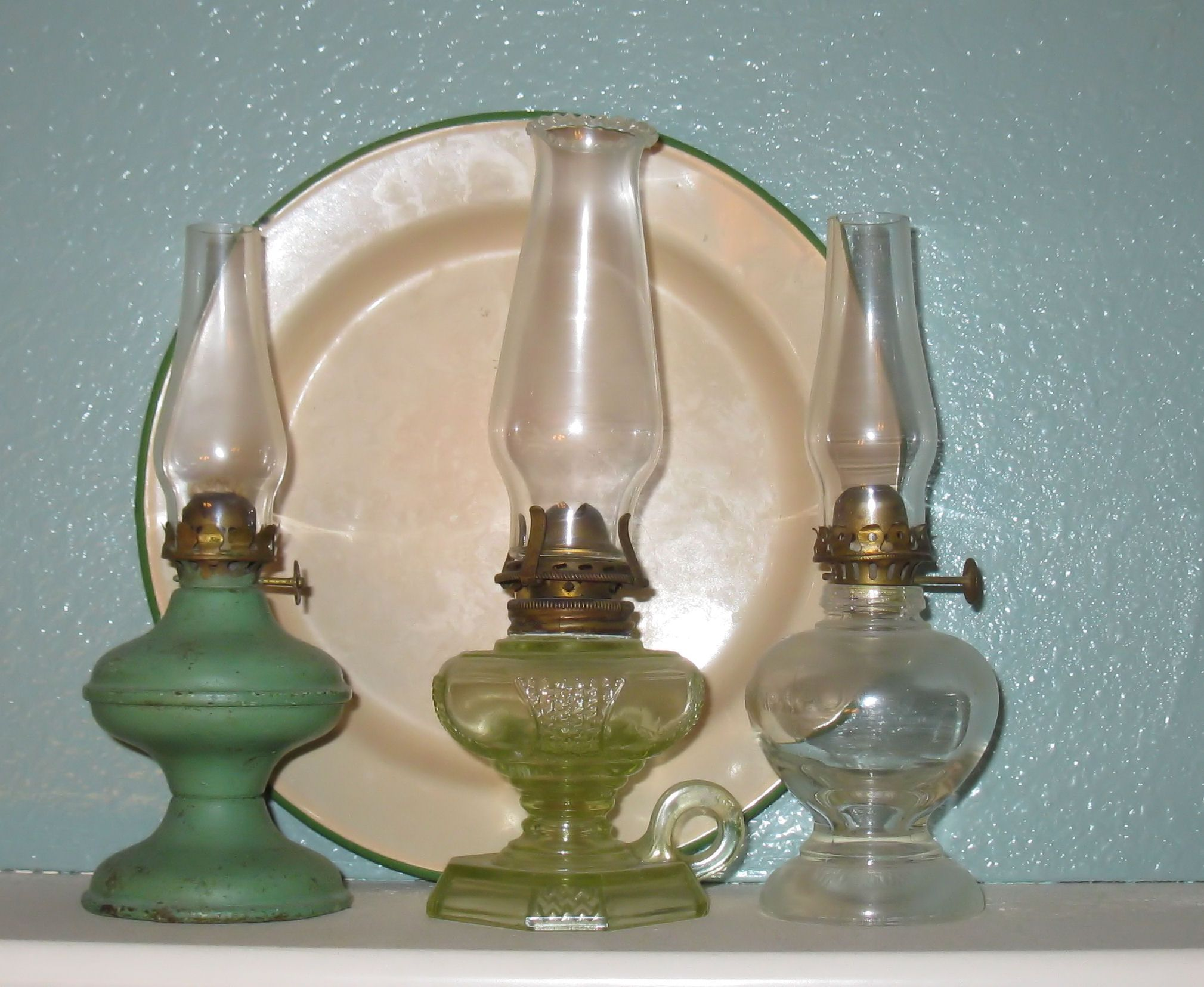 Some of my miniature oil lamps