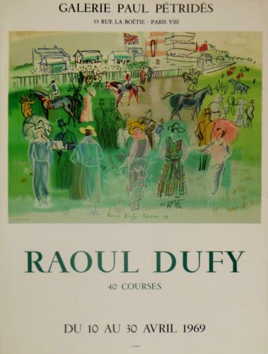 Raoul-Dufy-Exhibition-Poster-1969-Epson-Races