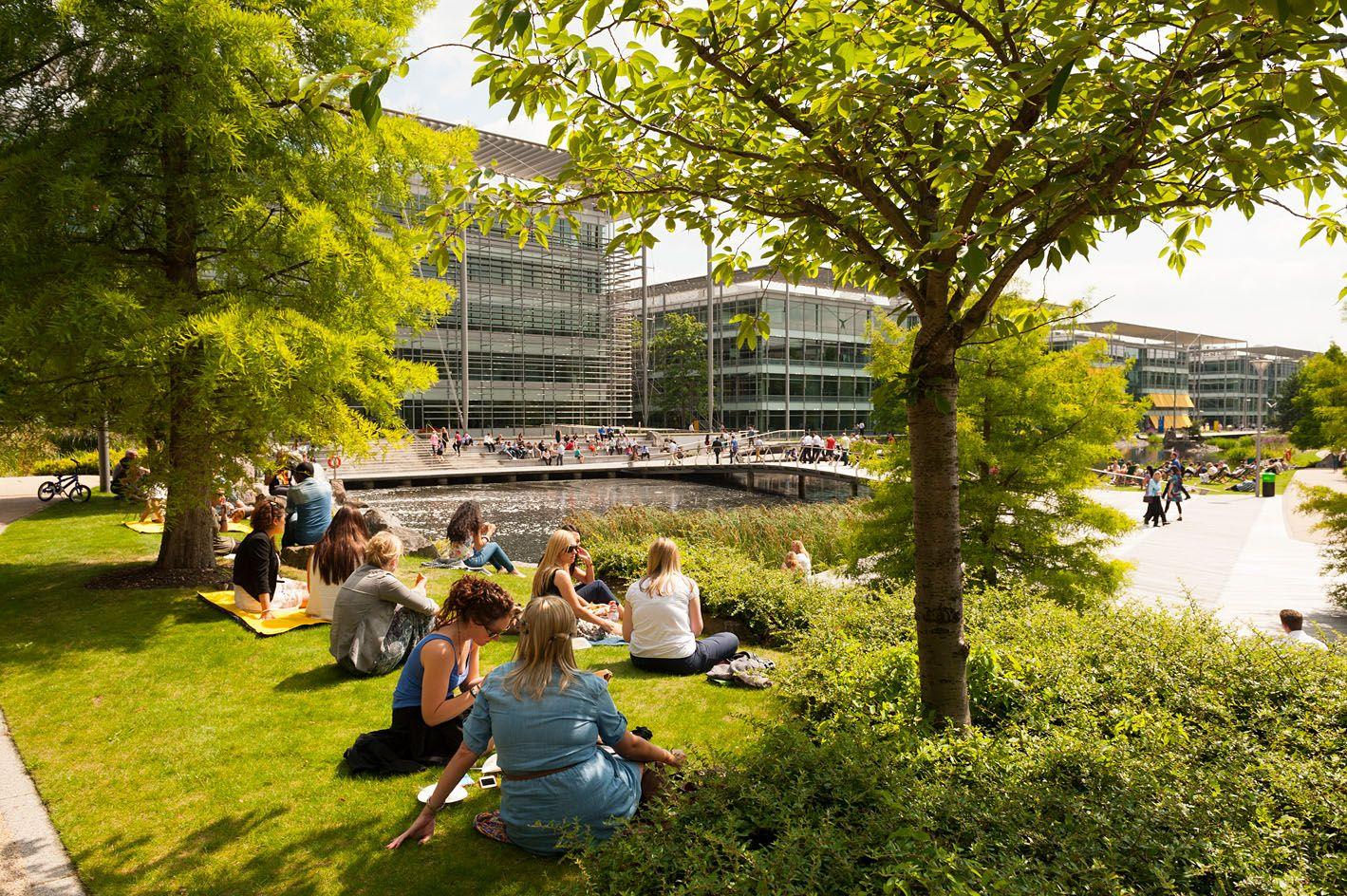 Chiswick Park London Campus Landscape Chiswick Park Landscape