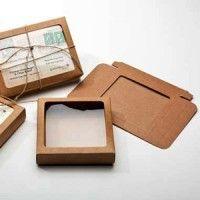 Kraft Papier Vensterdoos 9,4 x 2,2 x 13,2cm (25 Stuks) [WKR246]