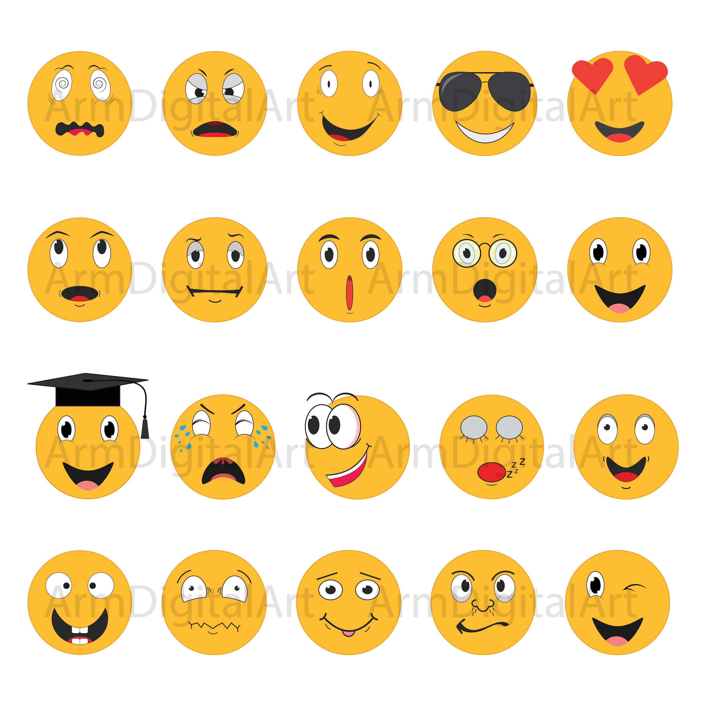 emoji clipart smiley face emoji faces svg smiley faces digital file printable emoji emoji cricut instant download by armdigitalart on etsy [ 3000 x 3000 Pixel ]