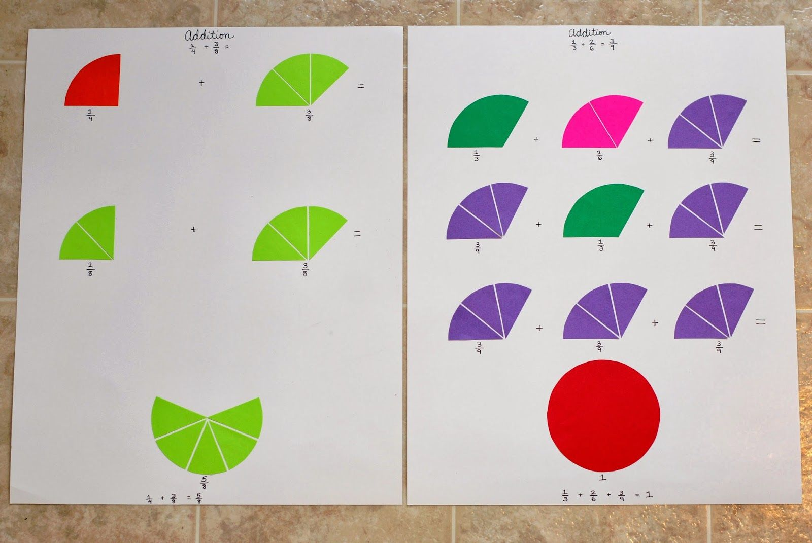 Montessori Fraction Work