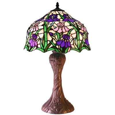 Warehouse of Tiffany 2380+BB664 Tiffanystyle Iris Table Lamp