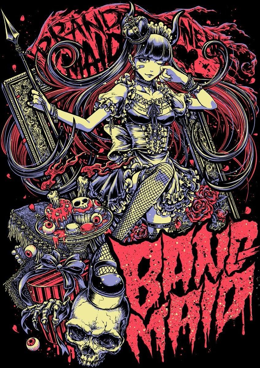 Goth art rock posters metal art maid drawings artwork bad