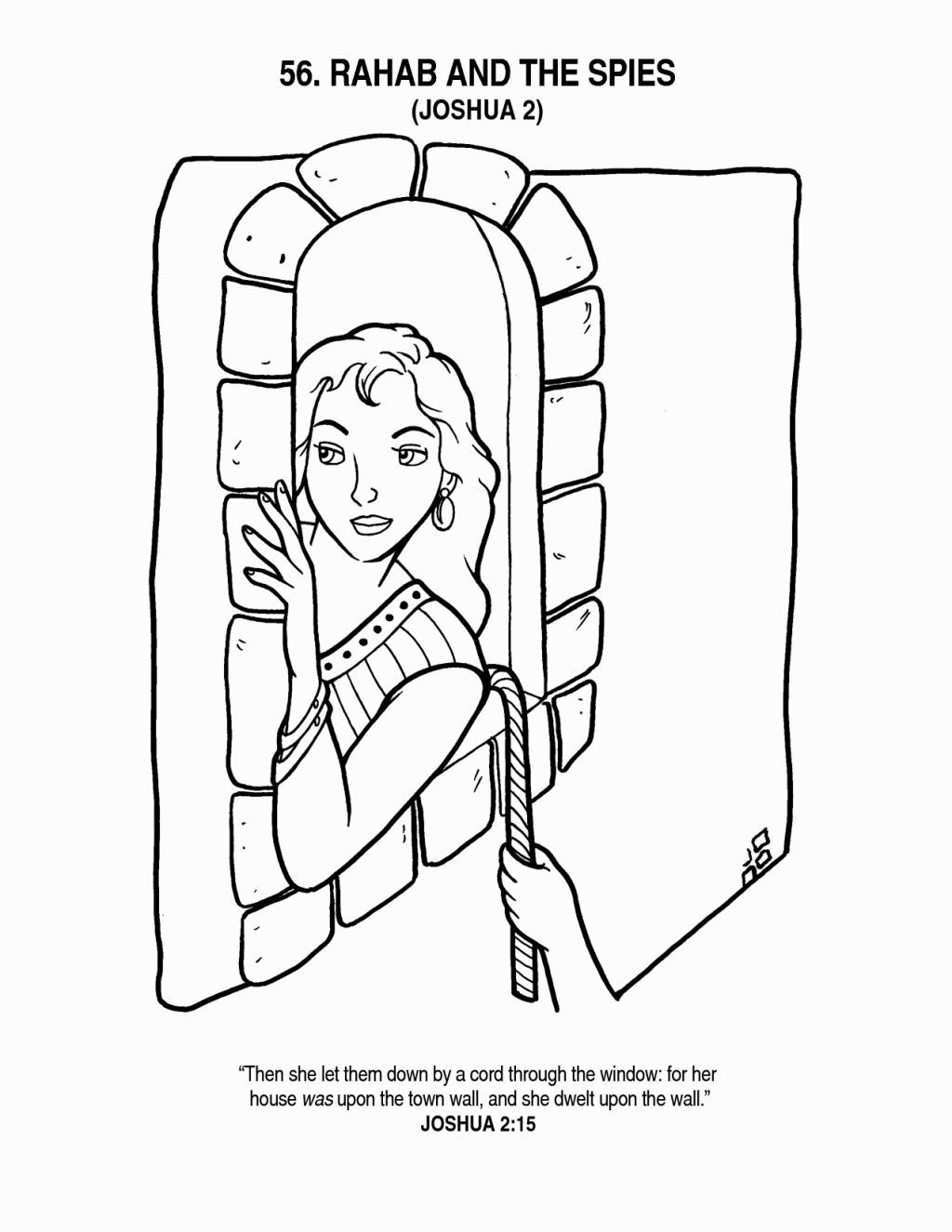 Rahab Helps The Spies Rahab Sunday School Coloring Pages Bible