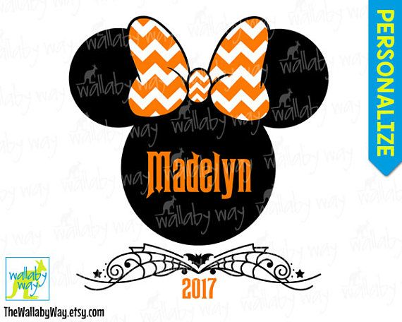 disney halloween minnie or mickey printable iron on transfer