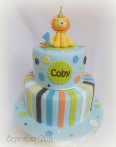lion first birthday cake Google Search Baby Boys First