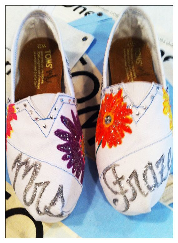 Wedding Custom Toms by jcgray1 on Etsy, $100.00