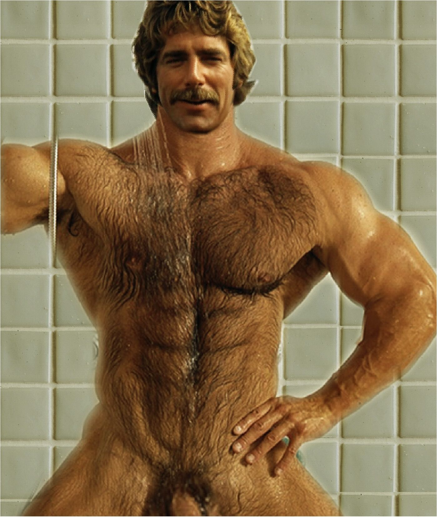 Pity, that hairy men in shower hope