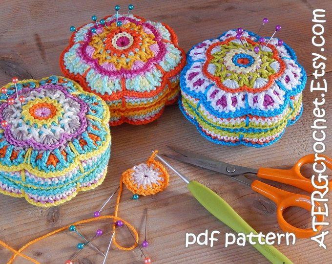 Crochet pattern pincushion ring by ATERGcrochet | crochet ...