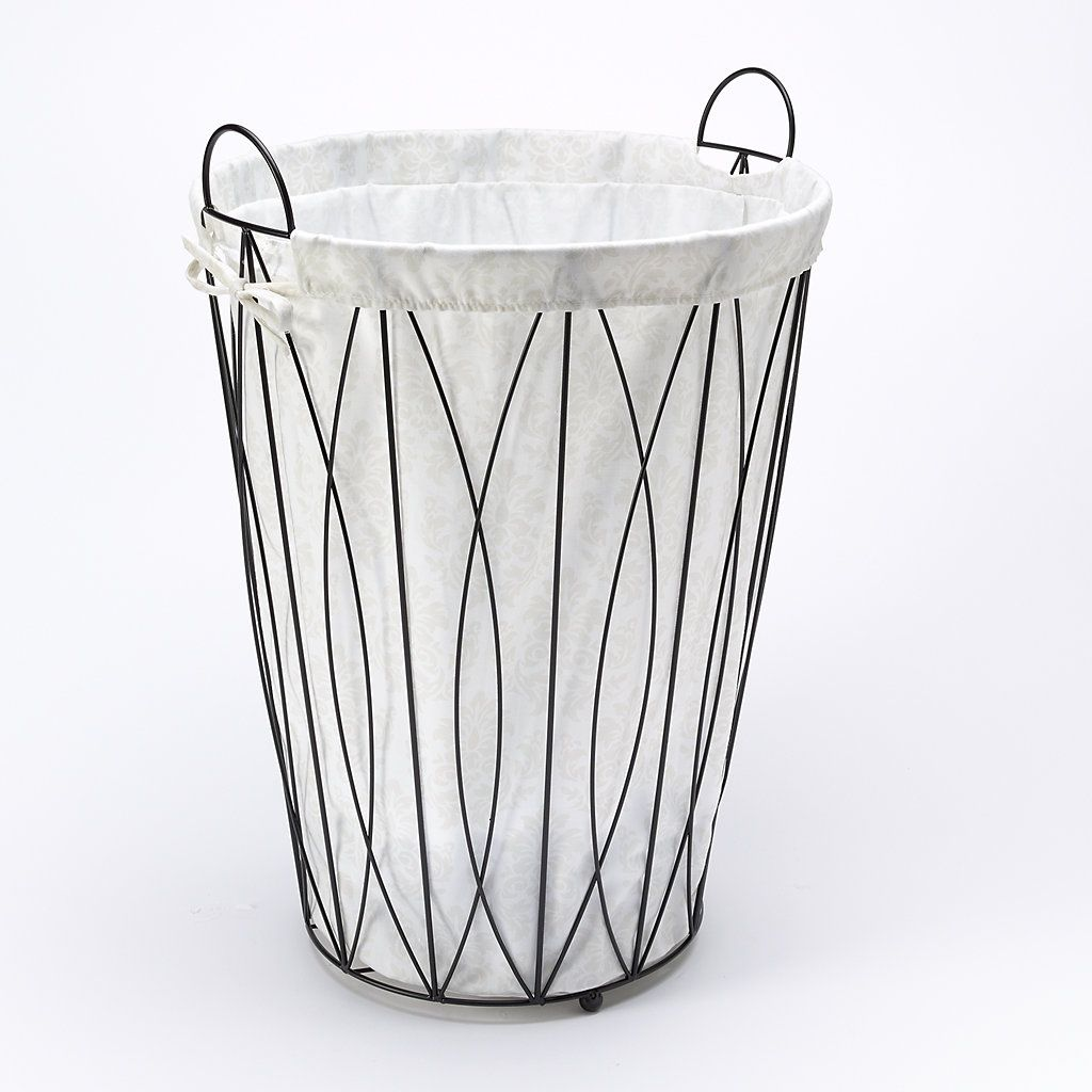 Lukasian House Ayan Wire Laundry Hamper Laundry Hamper Metal Laundry Basket Hamper
