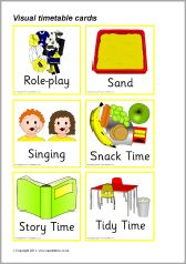 Visual Timetable For Nurseries Sb  Sparklebox  New Daily