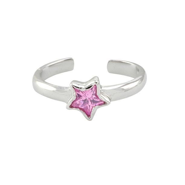 So cute on, and perfect for summer. So many new designs every week. Oh yeah and highly affordable! 925 Sterling Silver Toe Ring Pink CZ Star Adjustable - $13.99 #jewelryland #jewelry #toering #silvertoering #fashion #accessories #star #pinkcz #jewelrygram #greatforher #style
