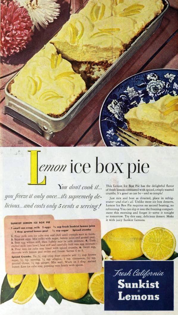 vintage icebox recipes   Retro Rover: A Vintage Recipe-Lemon Ice Box Pie