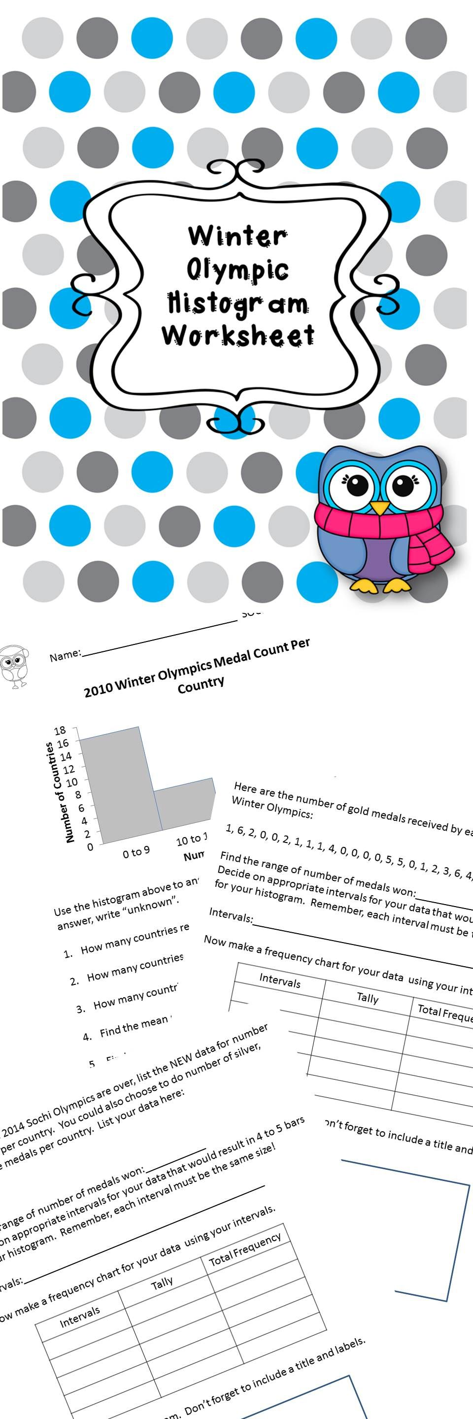 Worksheets Histogram Worksheet winter olympic histogram worksheet olympics worksheets worksheet