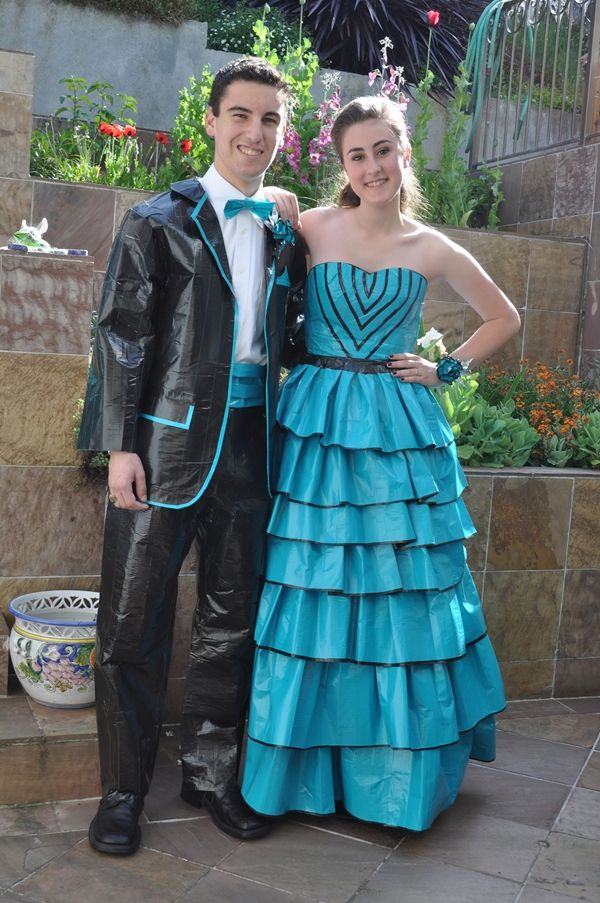 Duct tape prom dresses and suits... scholarship..my fav. out of all ...