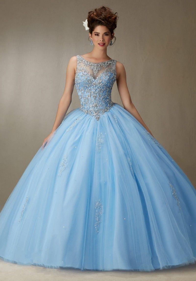 Ball-Gown-font-b-Light-b-font-font-b-Blue-b-font-font-b-Quinceanera ...