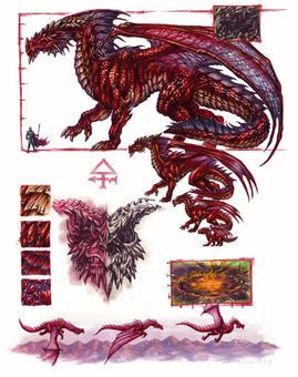 Red dragon   Dragons   Dragon anatomy, Fantasy dragon, Dragon