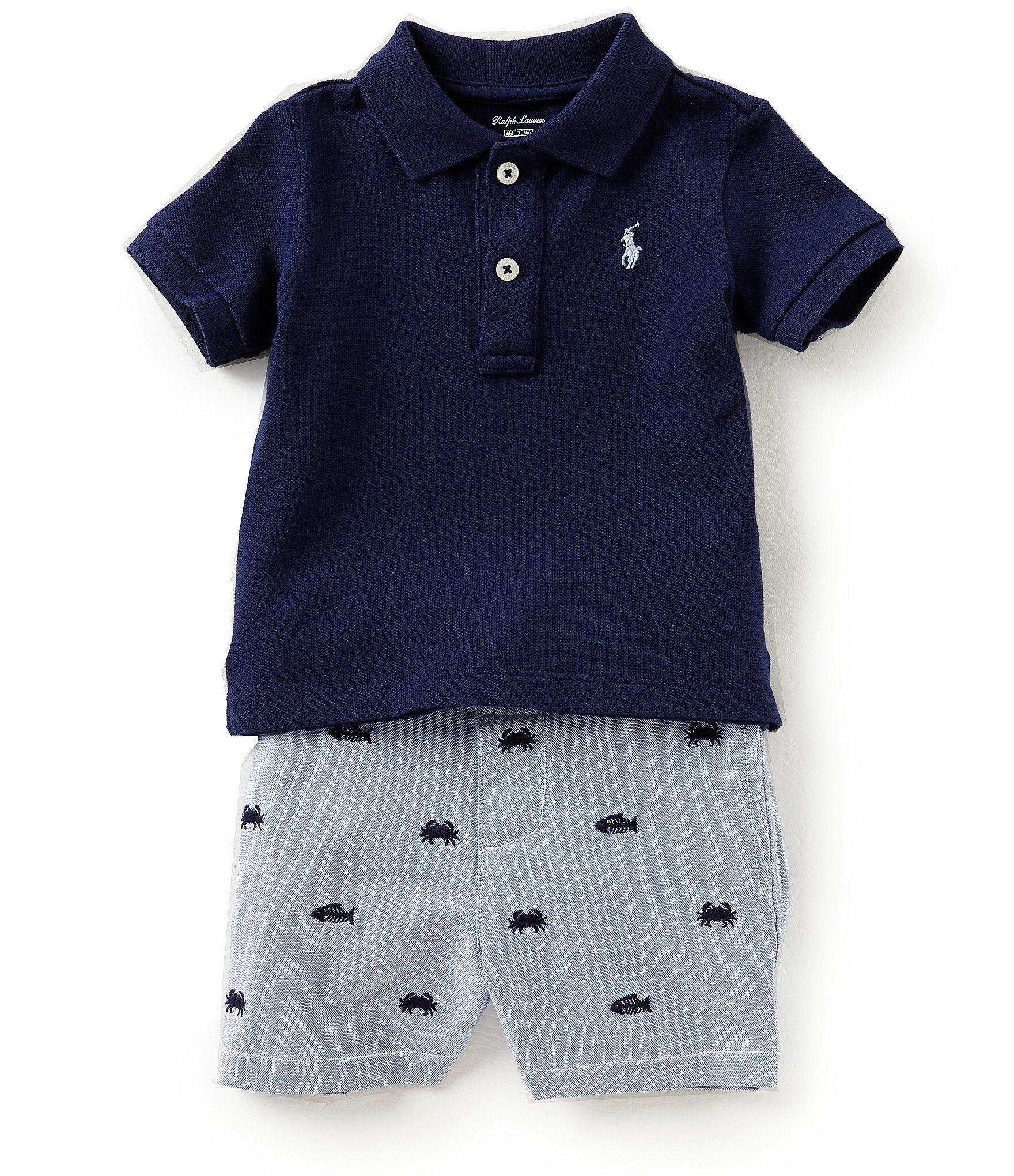 Ralph Lauren Childrenswear Baby Boys 8 Months Solid Polo Shirt
