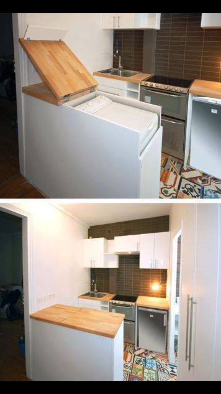 Great E Saving Idea For Washing Machine In Tiny House