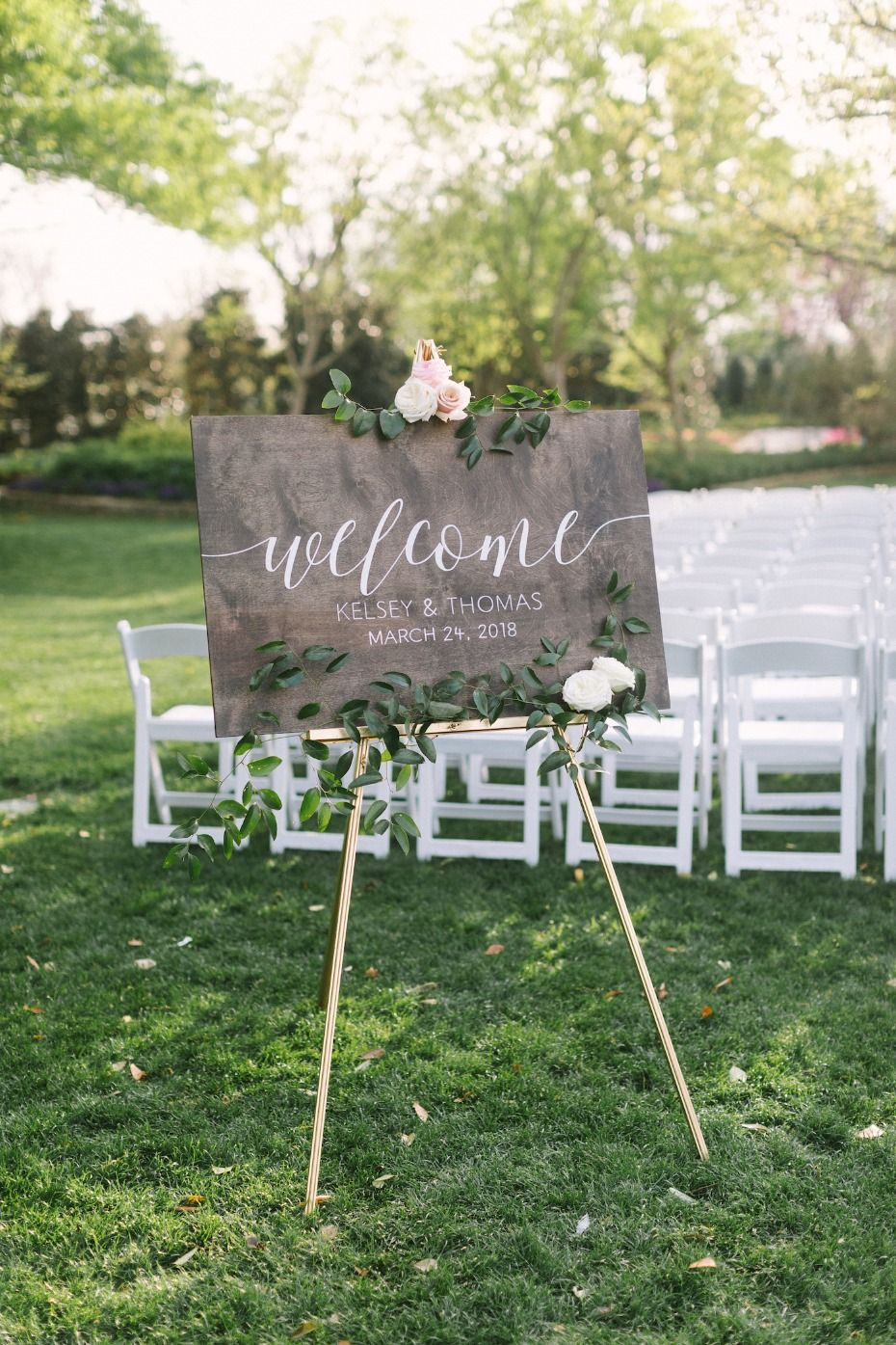 Navy And Burgundy Garden Party Wedding For Under 50k Welcome To Our Wedding Wooden Wedding Signs Wedding Welcome Board