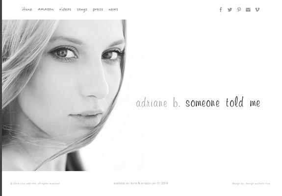Artist Performer Portfolio Website with eCommerce