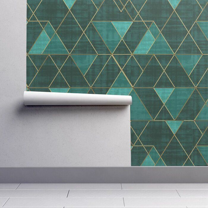 Clarkson Geometric Removable Peel And Stick Wallpaper Panel 1000 Geometric Removable Wallpaper Indigo Wallpaper Geometric Wallpaper