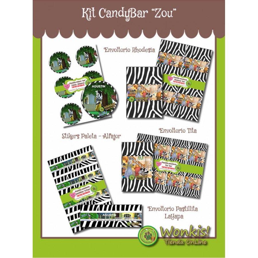 Kit Candy Bar (Golosinas) Etiquetas y envoltorios de golosinas ...