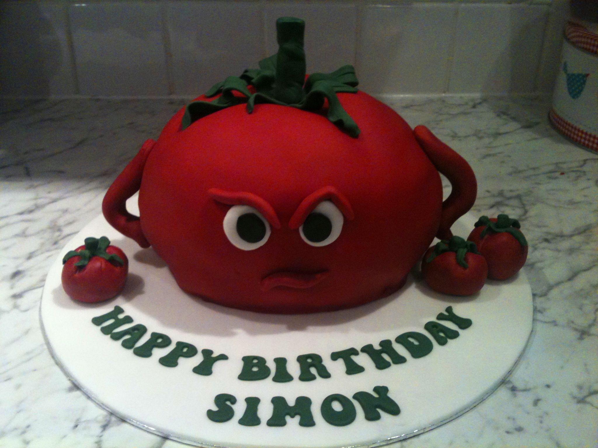 The Grumpy Tomato Birthday Cake My Cakes Pinterest Birthday