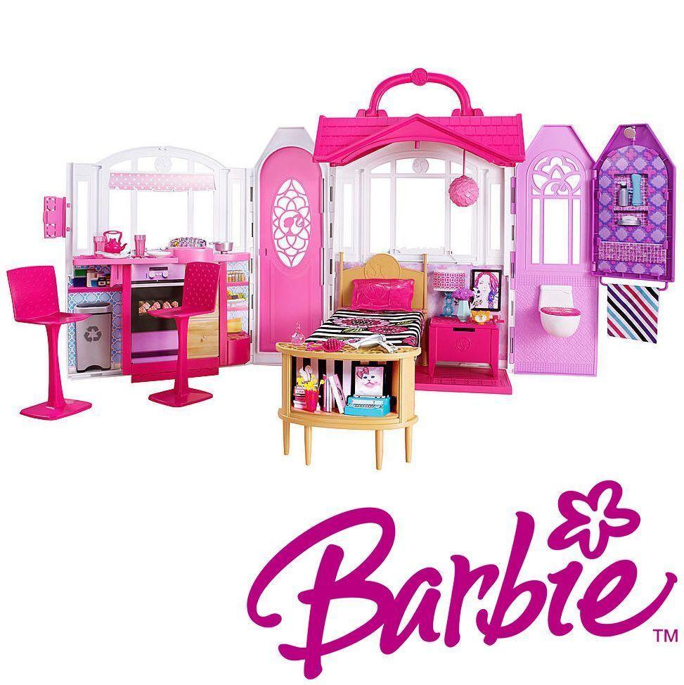 barbie dollhouse furniture cheap. Barbie Dream House Doll Glam Mansion Dollhouse Furniture Girls Portable Play Set Cheap