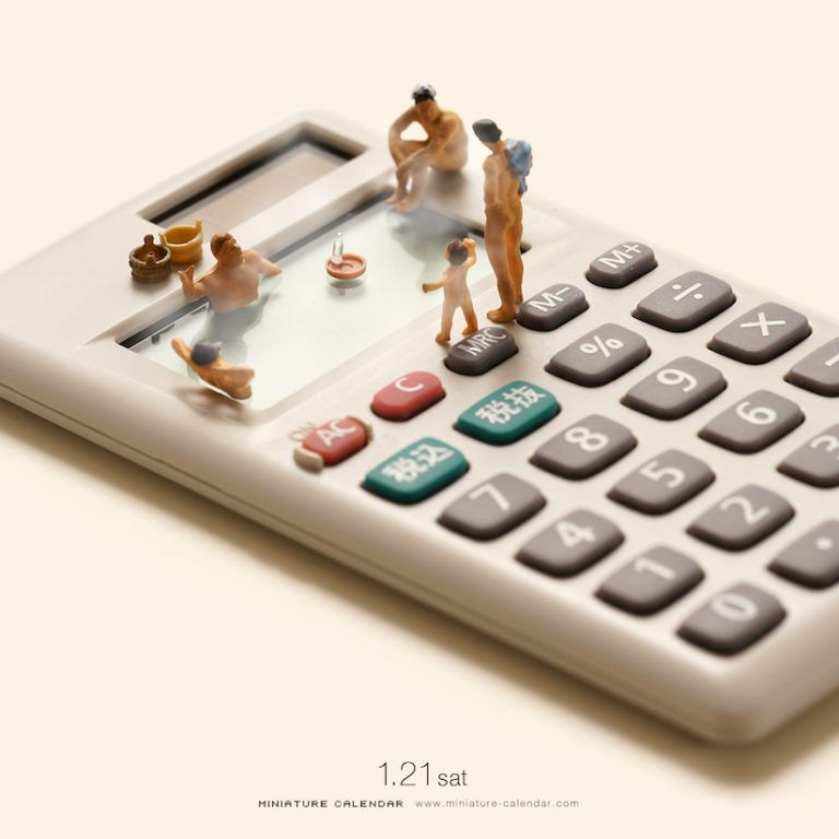 Miniature Calendar New Creative Artworks From Tatsuya Tanaka S