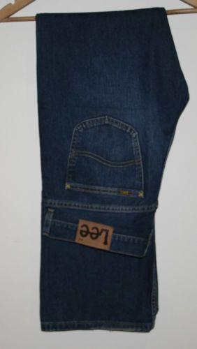 9cc35f3d365 Genuine Mens Lee Jeans 36/34 Denim Western Fashion Style Designer Dark Blue