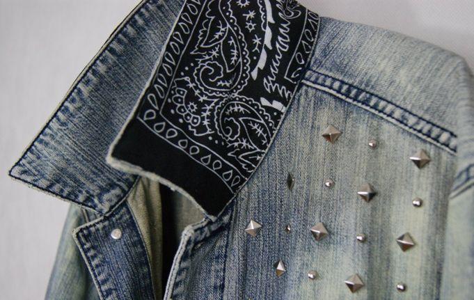 Kurtka Jeansowa Diy Bandana Cwieki Etno Folk Retro 3976333242 Oficjalne Archiwum Allegro Diy Clothes Clothes Moda Fashion
