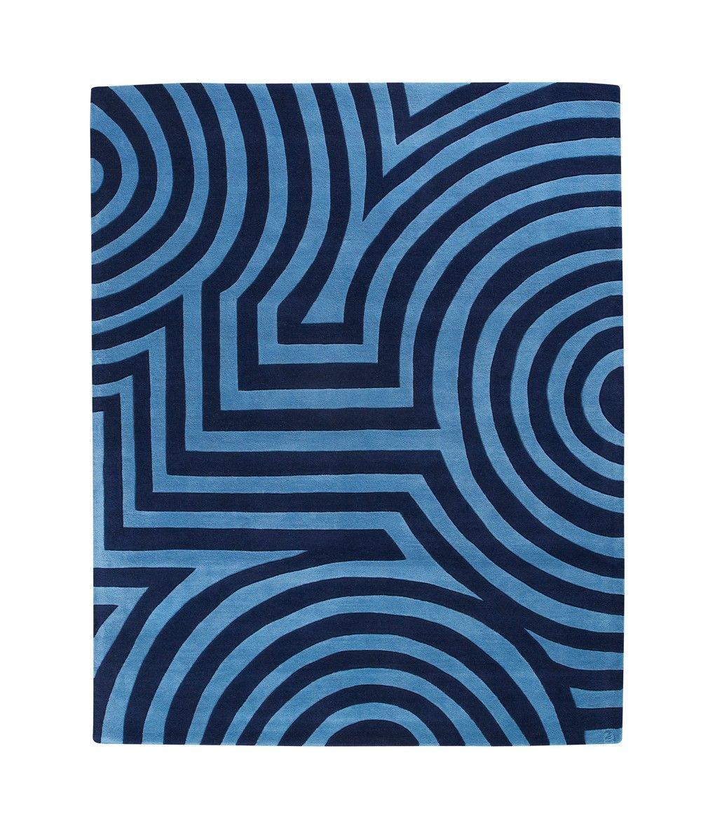 Marsden Blue Hand Tufted Hand Woven Area Rugs