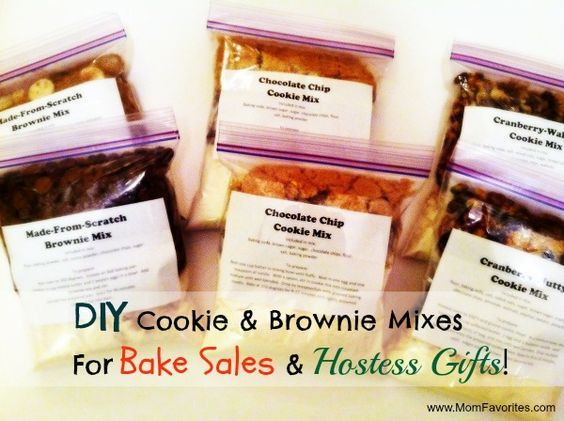 DIY Baking Mixes – Perfect for Bake Sales and Hostess Gifts! I've included four recipes for packaged baking mixes. Perfect for when you are in a bake sale pinch...like I was!
