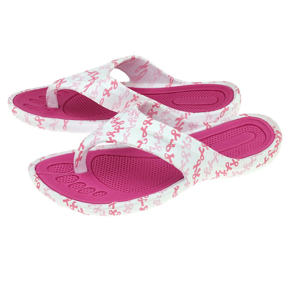 Pink Ribbon Party Flip Flops at The Breast Cancer Site
