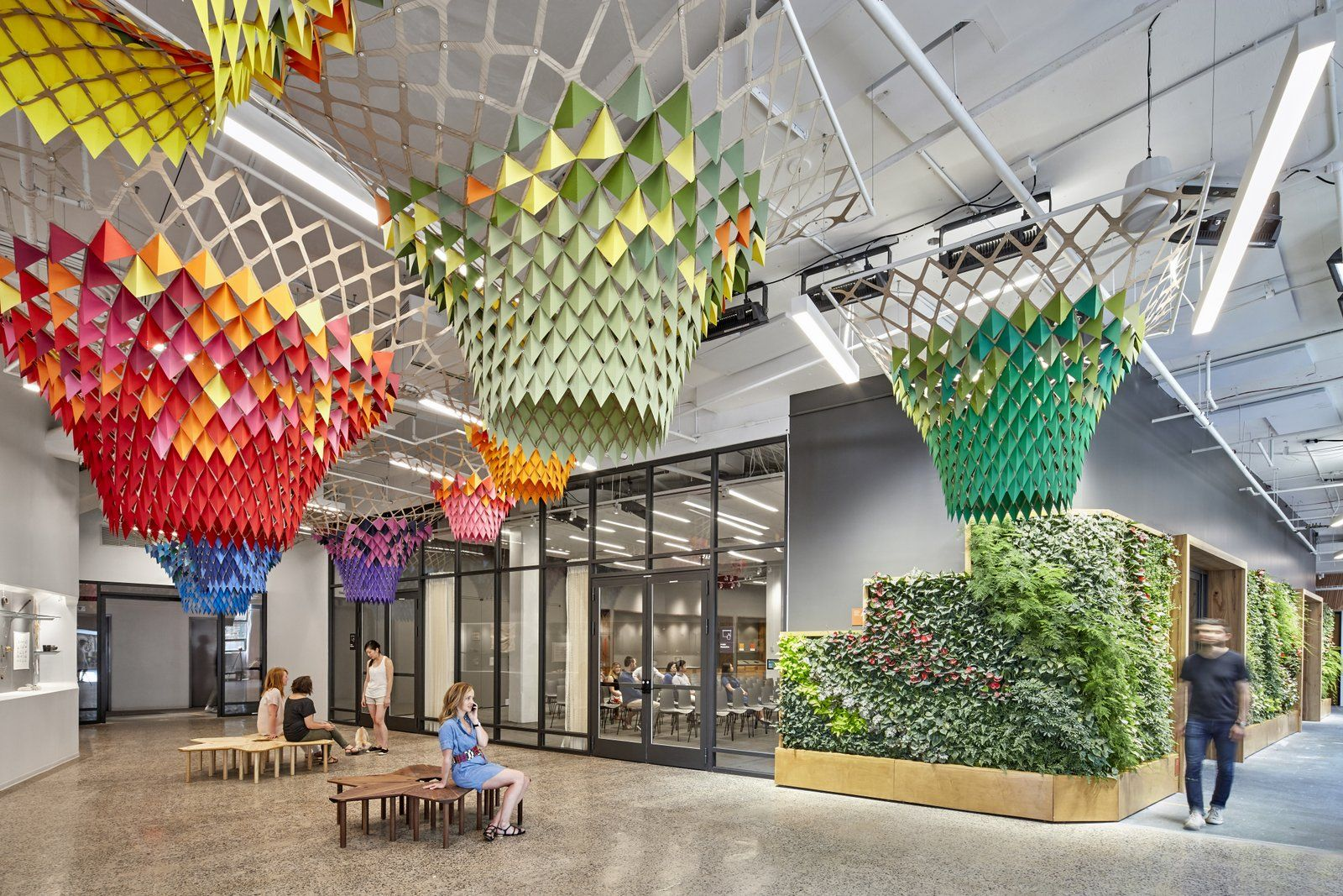 We Love The Green Wall At Etsy Offices In New York City