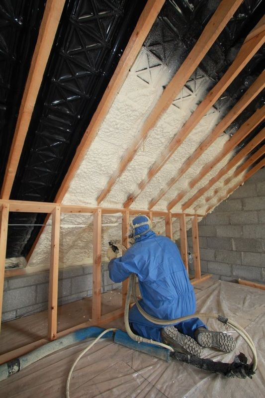 Holes And Cracks In Your Walls Allow The Moisture And Water To Get The Access To Your Place As It Spray Foam Insulation Foam Attic Insulation Attic Renovation