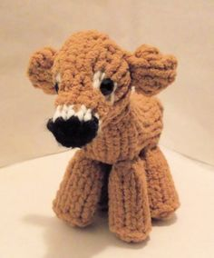 How To Loom Knit a Mini Cow #loomknitting